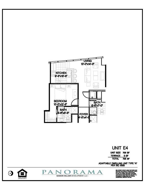 Panorama Floor Plans 1 Bedroom 2 Bath Panorama Towers