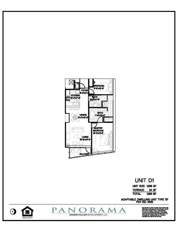 Panorama Floor Plans 2 Bedroom 2 Bath | Panorama Towers