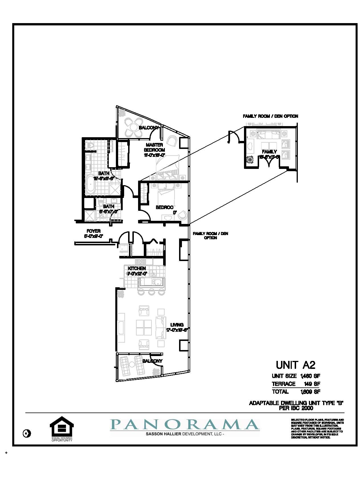 Panorama Floor Plans 2 Bedroom 2 Bath Panorama Towers Las Vegas High Rise C