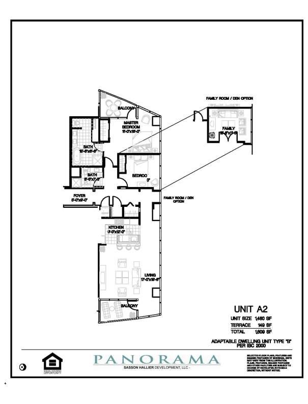Panorama Floor Plans 2 Bedroom 2 Bath Panorama Towers