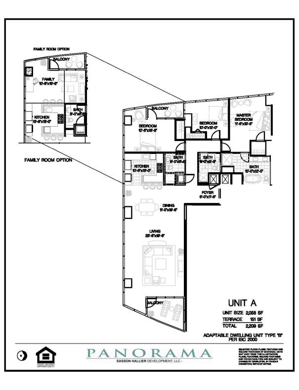 Panorama Floor Plans 2 Bedroom 3 Bath Panorama Towers