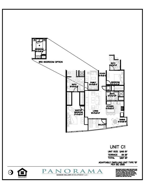 Panorama floor plans 2 bedroom 3 bath den panorama for 2 bedroom 2 bath condo floor plans